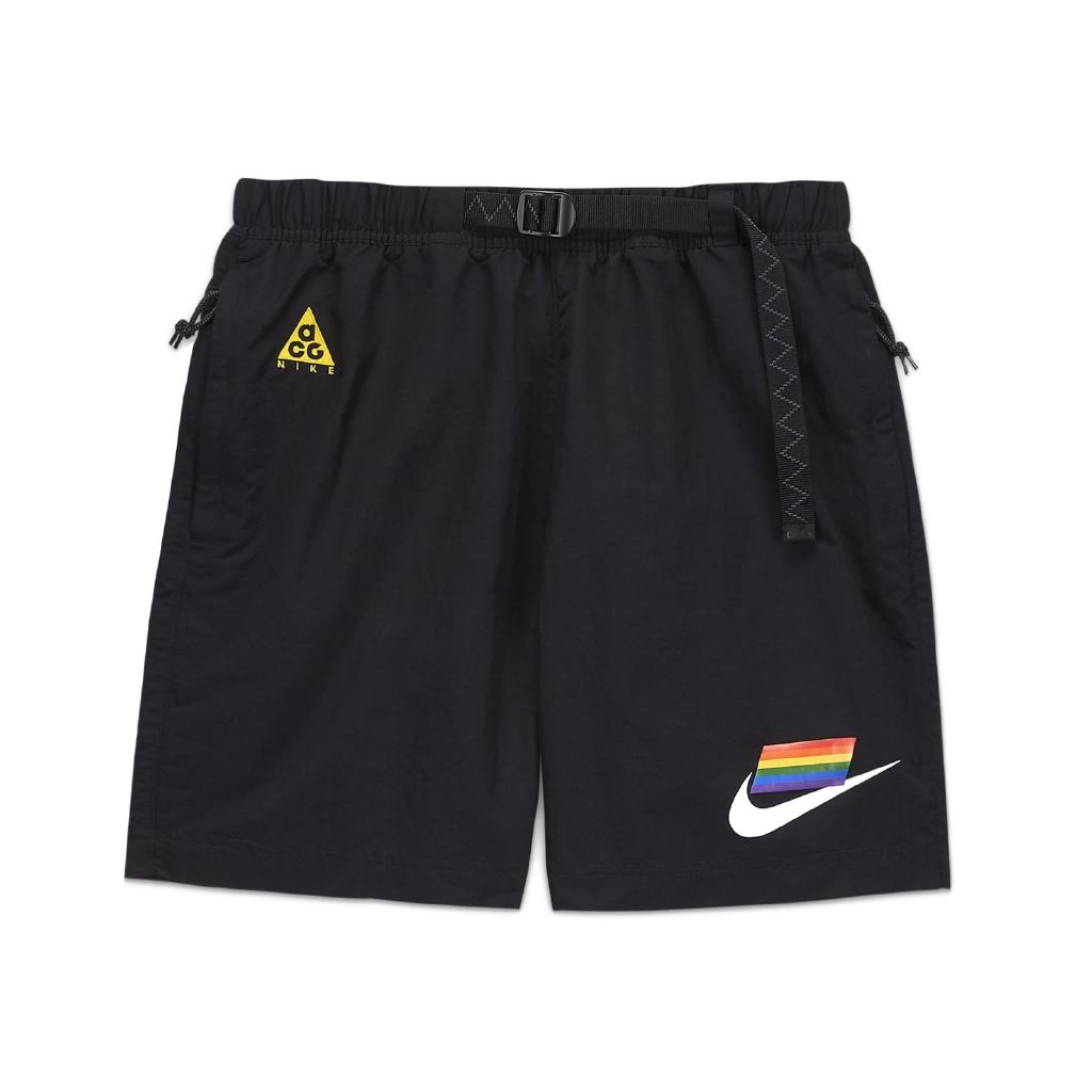 Nike 短褲 ACG Shorts BETRUE 黑 彩色 男款 彩虹 膝上 運動休閒 【ACS】CZ9137-010
