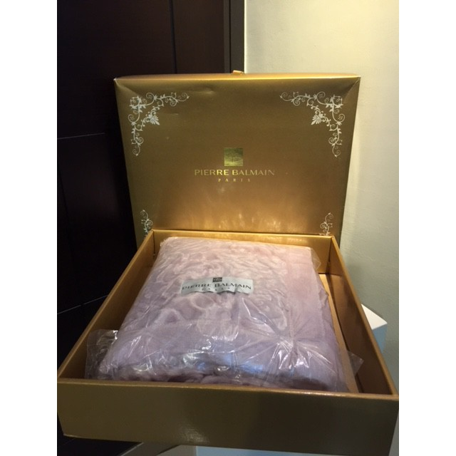 (全新) (PB)PIERRE BALMAIN  粉玫瑰柔軟薄毛毯