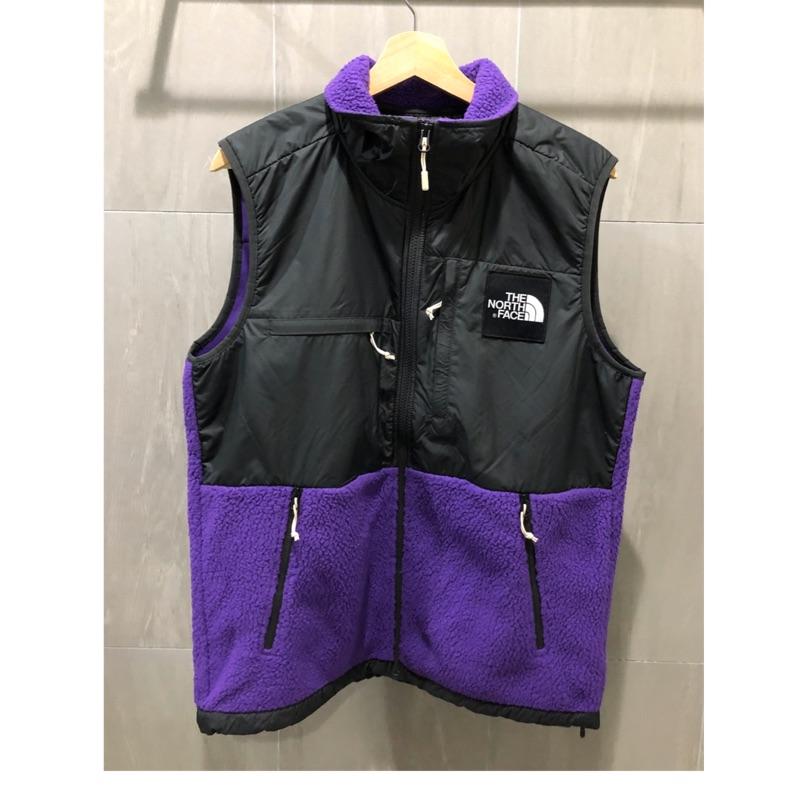 The north face Denali fleece vest 紫色 全新M 吊牌