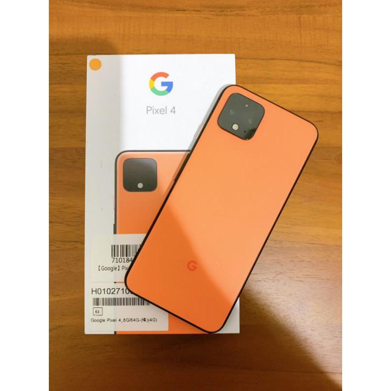 二手 Pixel 4 64g 橘 (保固內)/ pixel4 pixel 5