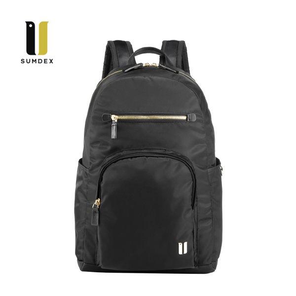 SUMDEX 14.1吋+IPAD輕盈後背包NON-757BK黑色