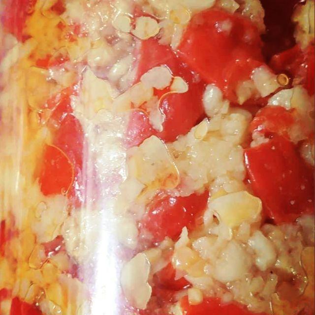 瑪莎莎小舖手工辣椒(小/中辣蒜仁辣椒)搭在地超夯黃金蒜醬