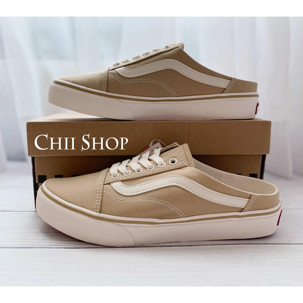【CHII】日本代購 VANS COMFORT OLD SKOOL MULE 奶茶色 帆布 穆勒鞋
