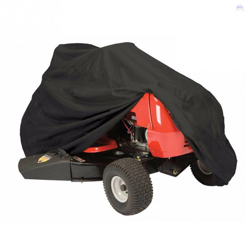 T.Go 割草機罩防水紫外線保護拖拉機罩防塵便攜式山地自行車自行車摩托車罩帶拉繩戶外天氣保護