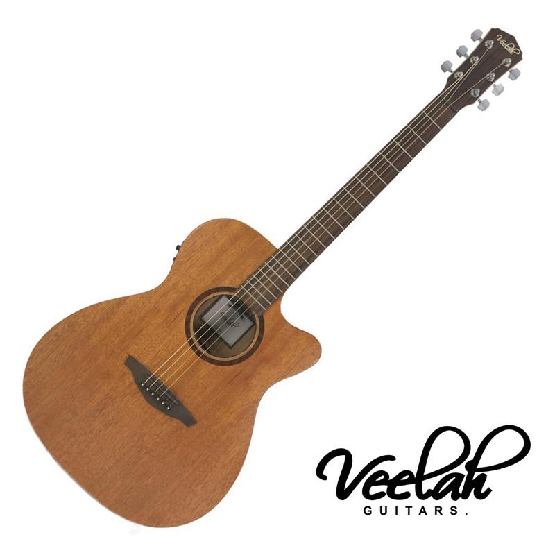 Veelah V1 OMMCE民謠吉他 40吋 全桃花心木 單板 - 【黃石樂器】