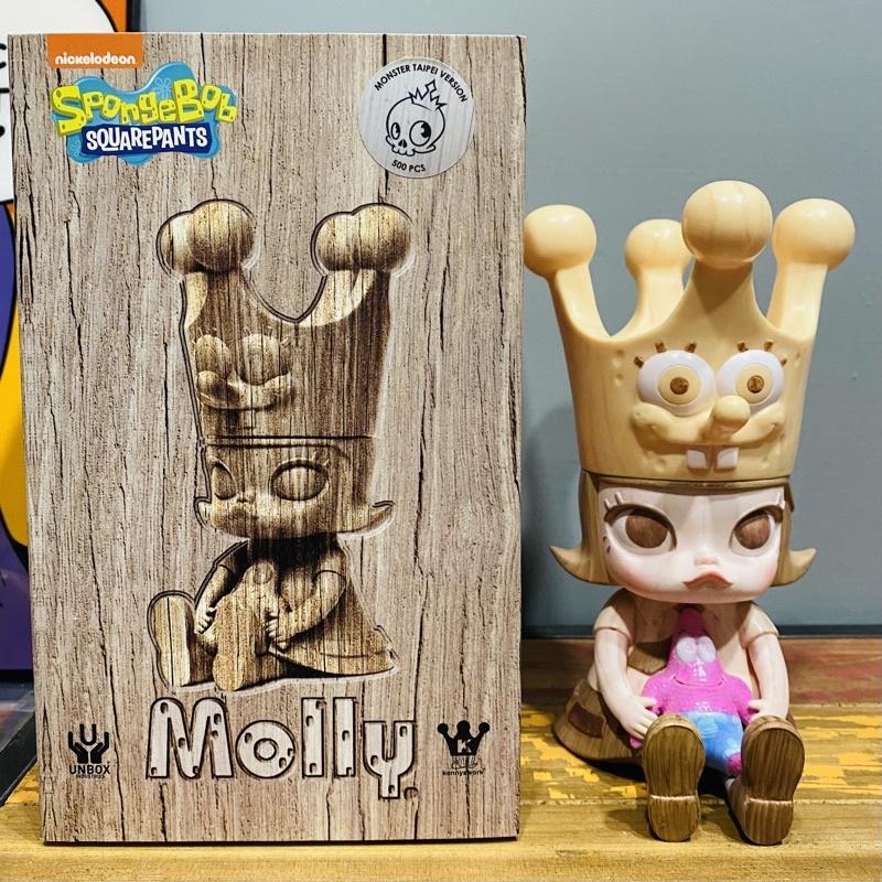 抽選 Kennyswork x Unbox  仿木 海綿寶寶 Molly 非 Zimomo labubu