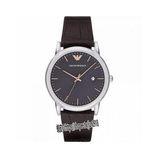 美國直郵Armani阿曼尼手錶 黑色真皮錶帶 簡約日曆黑盤休閒腕錶 男士時尚紳士石英錶 AR1996 新北市