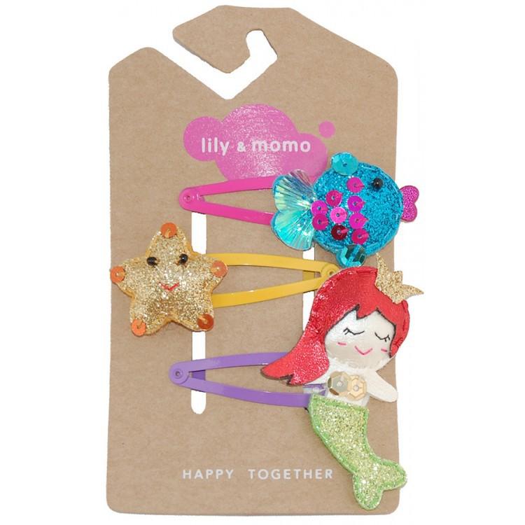 【美國 Lily & Momo】手工童趣髮飾- 美人魚公主 #HCA262