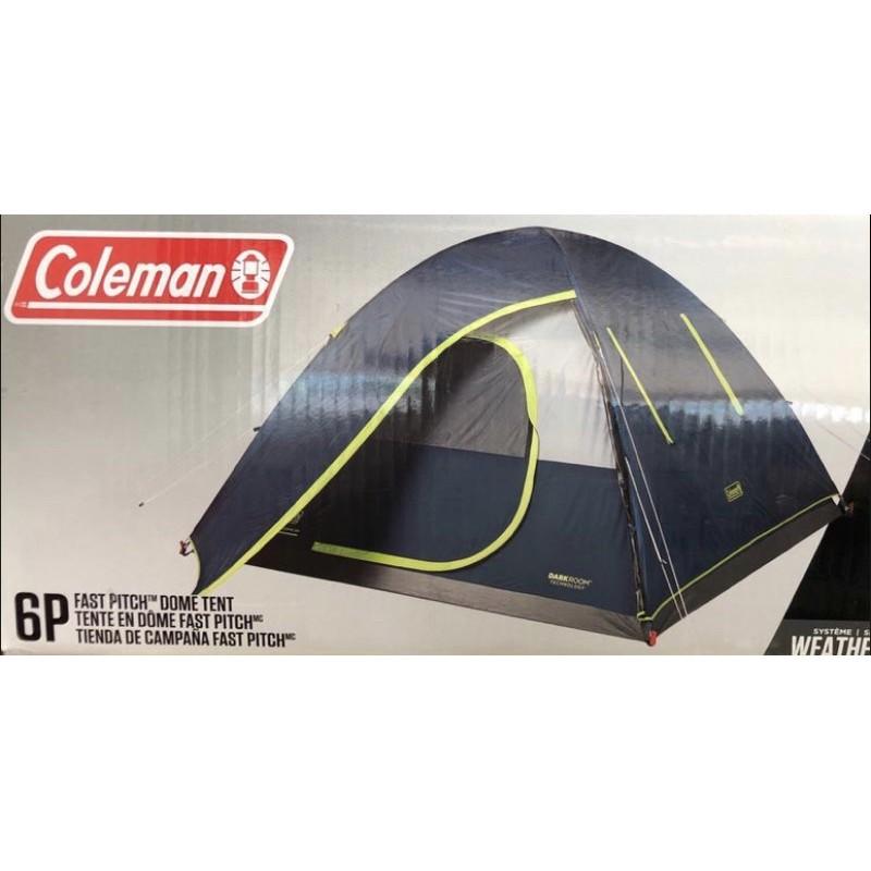 [二手]9成新COLEMAN 快搭式全罩型六人黑膠帳篷