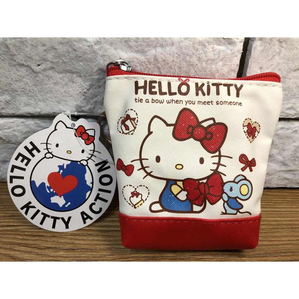 現貨 ❤ 【NANANA小舖】娃娃機商品-Hello Kitty 蝴蝶結零錢包 直式  三麗鷗  台主 超愛夾