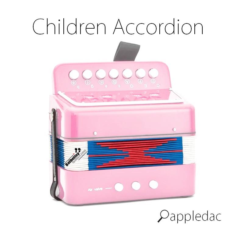 粉紅色 兒童 手風琴  荷蘭設計 聖誕 禮物 樂團 鋼琴 音樂 兒童玩具 樂器 樂器
