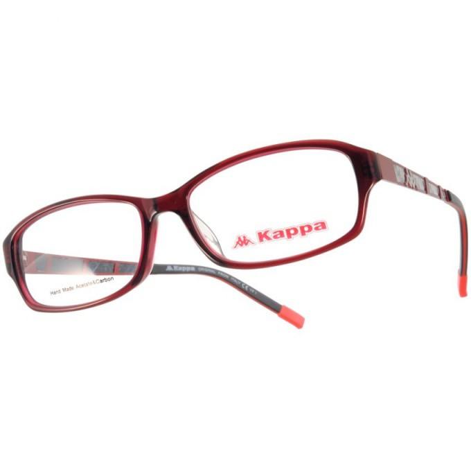 KAPPA 光學眼鏡 KP1023 RD 馬賽克格紋設計款-金橘眼鏡