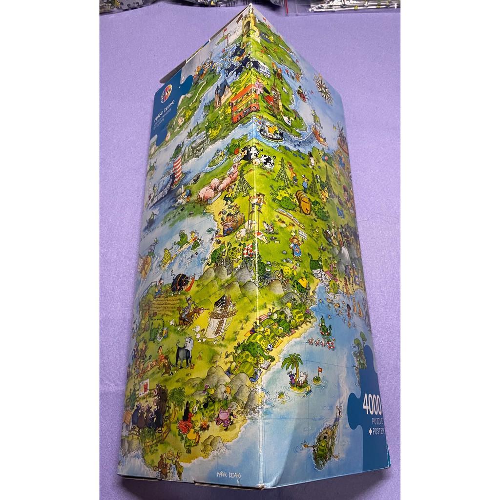 (二手)HEYE 拼圖 歐洲地圖 4000片 三角盒