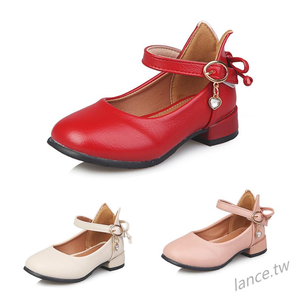 女童公主鞋單鞋春新款花朵兒童舞蹈鞋時尚休閒中大童鞋
