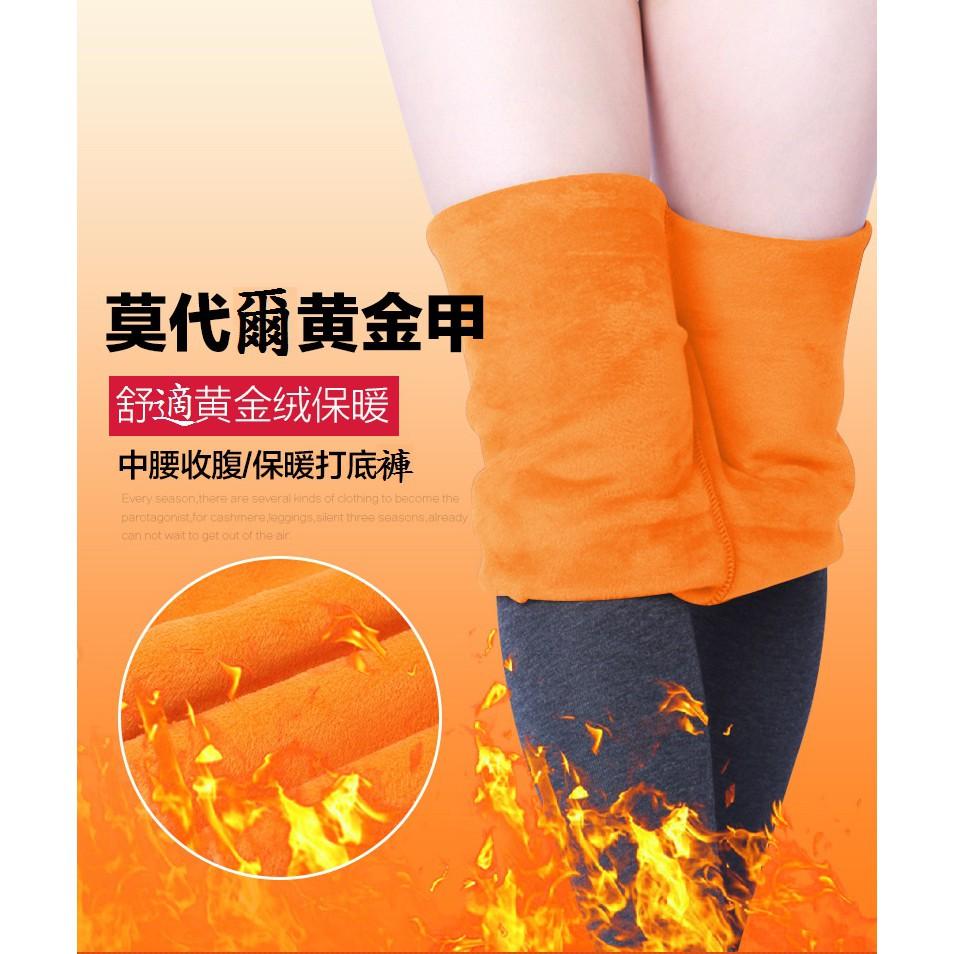 XL-6XL 莫代爾加絨褲 刷毛 加大碼 仿羊絨 內加厚 黃金絨 內搭褲  保暖 顯瘦 [JC的店]