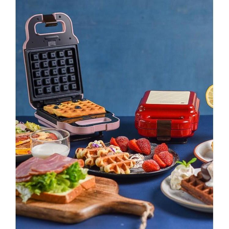 220V 三明治機早餐機輕食機華夫餅機面包機多功能加熱鍋吐司壓烤機 極速發貨