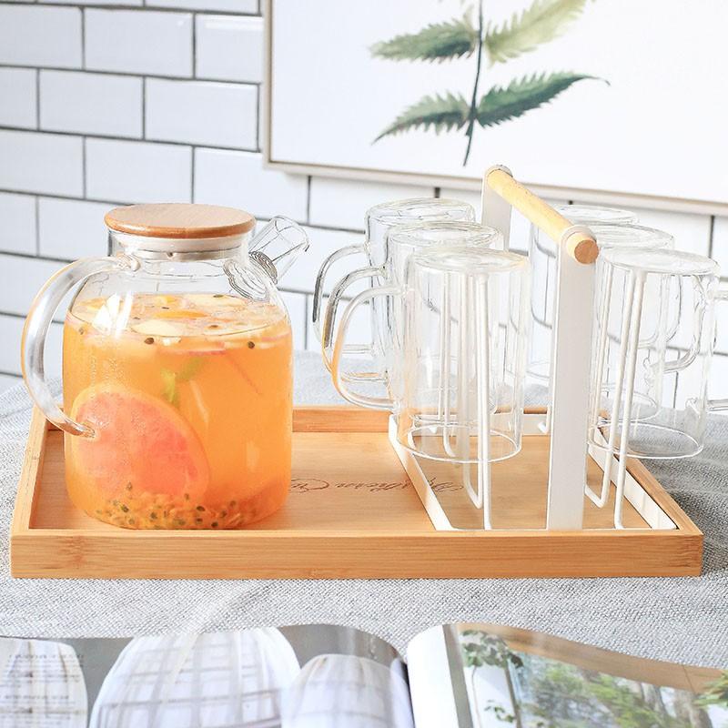 創意家用收納杯子架 瀝水置物架杯架水杯架 托盤玻璃水杯掛架