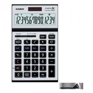 【阿筆文具】//CASIO 卡西歐// JS-140TVS / 14位數商用計算機 / 大型顯示幕 /太陽能及電池併用