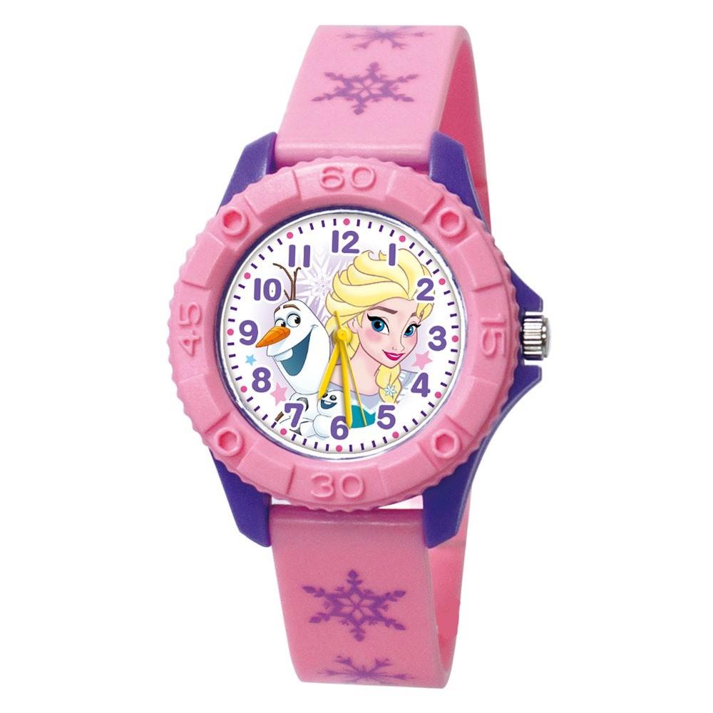 【Disney迪士尼】自信艾莎 雙色殼兒童手錶