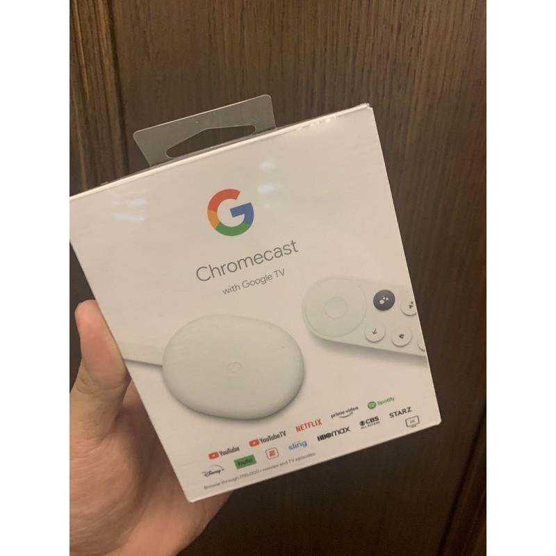 [現貨、可刷卡分期、開發票]Google Chromecast with Google TV 4K 第四代 機上盒