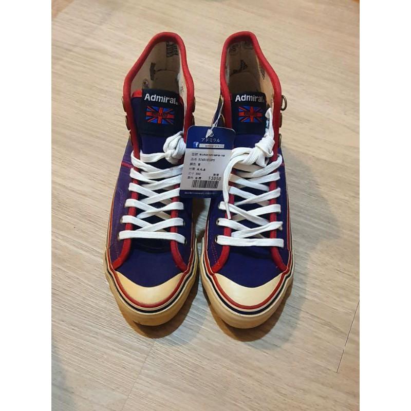 Admiral 高筒帆布鞋 /深紫色 /26碼