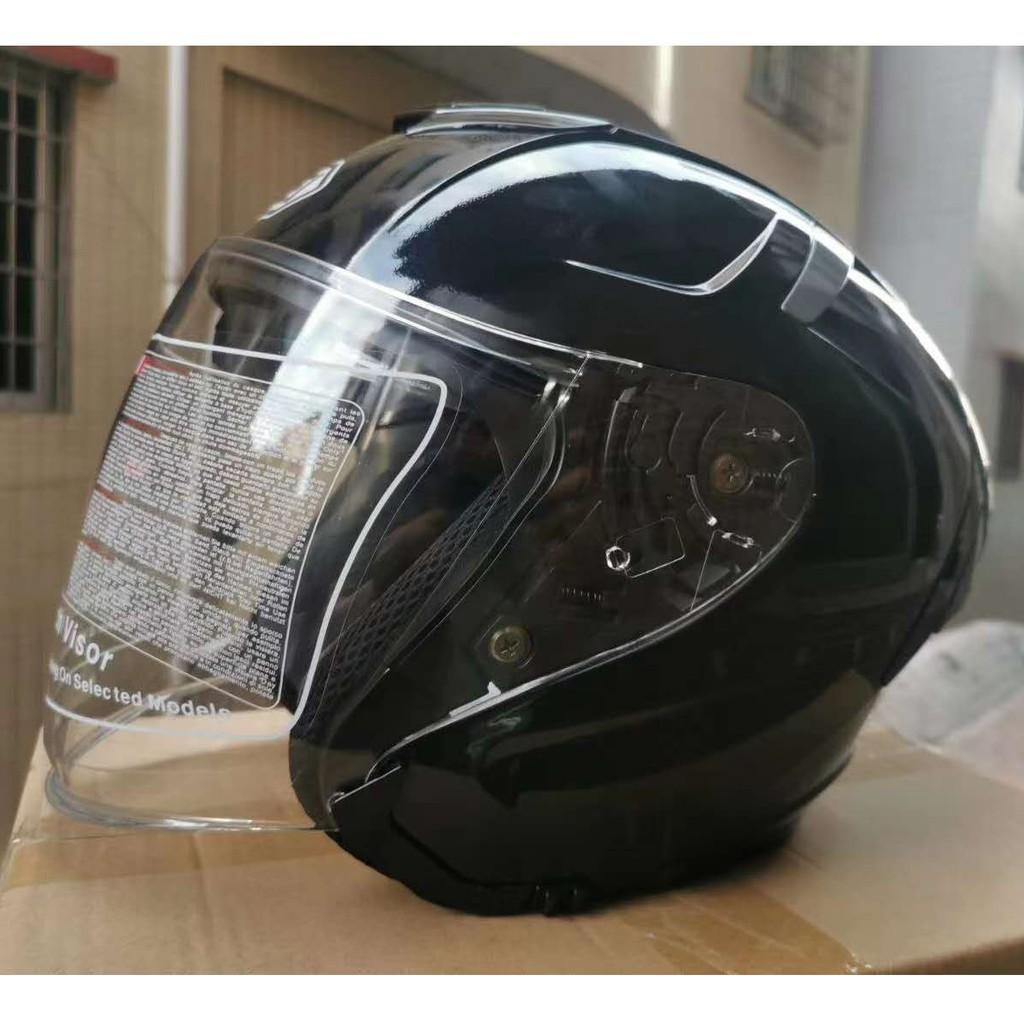 SHOEI X14 亮白 黑色 雙鏡片半盔 亮白色 男女四季通用安全帽 機車騎士帽 半罩安全帽