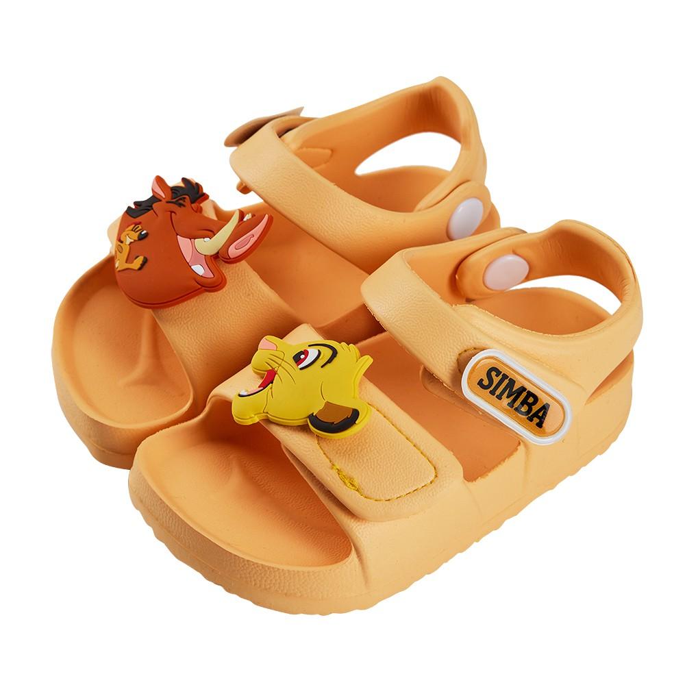 迪士尼童鞋  獅子王  立體造型防水涼鞋-黃