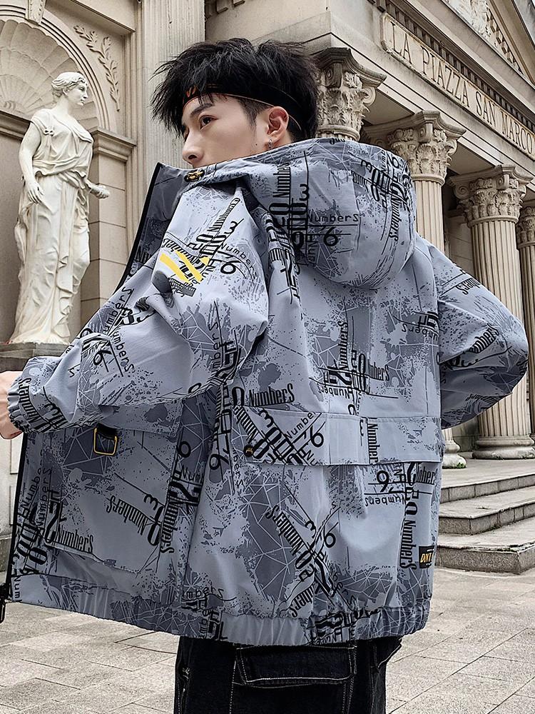 yukikime-新款秋季男士外套韓版潮流棒球上衣服男生春秋款工裝迷彩夾克