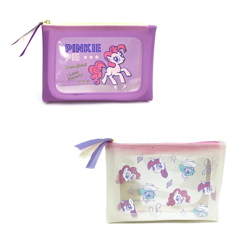 【精挑細選】現貨 日本正版小馬寶莉馬獨角獸透明女化妝包手拿痛包雜物包筆袋