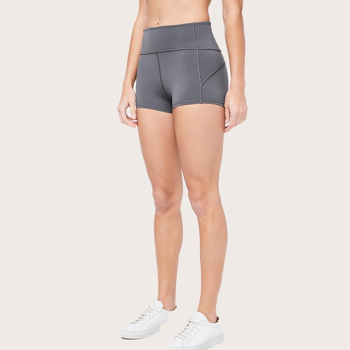 Lululemon露露檸檬 夏季爆款 雙面裸感女士瑜伽短褲 跑步運動健身訓練提臀瑜伽褲
