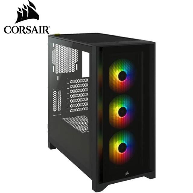 【CORSAIR 海盜船】iCUE 4000X RGB 電腦機殼 (黑)