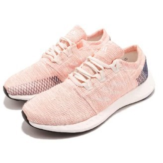 Adidas PureBOOST Go 粉橘 粉色 白色 慢跑 避震 透氣 舒適 健身 B75666