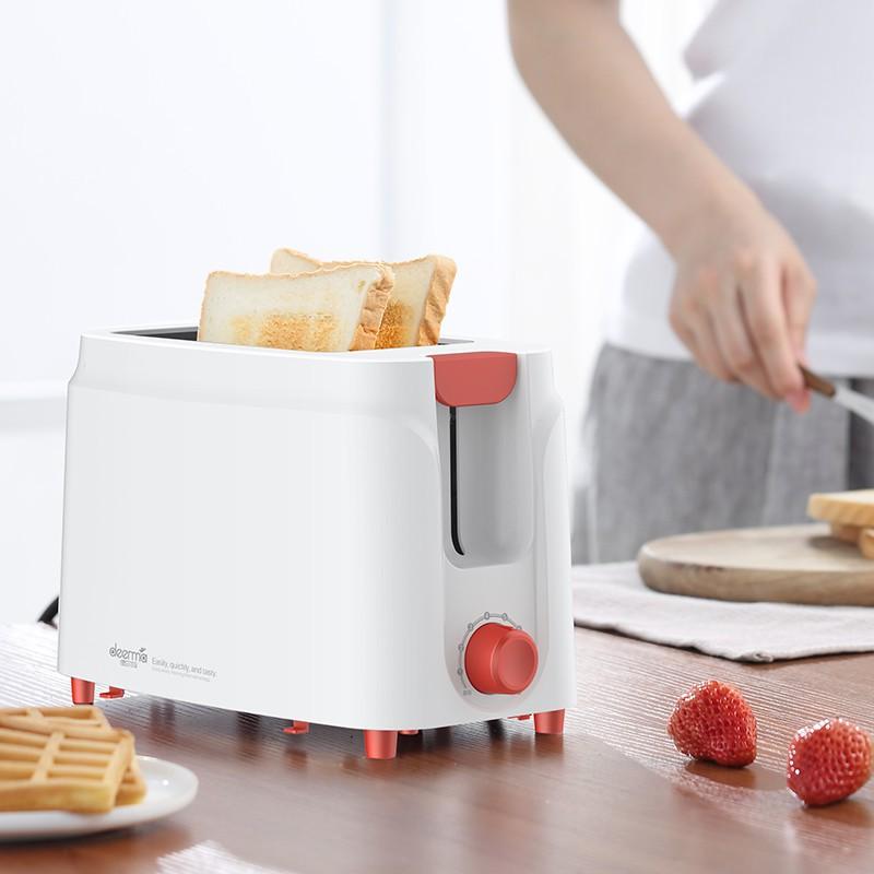 免運費 麵包機 吐司機 點心機 德爾瑪多士爐家用全自動小型烤面包烤吐司機家用早餐機迷你面包機 烤麵包機 三明治機