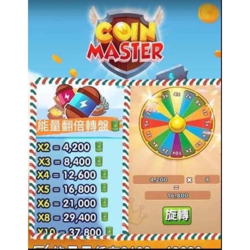 coin master 能量轉盤直接補充你的能量 保底4200最高37800