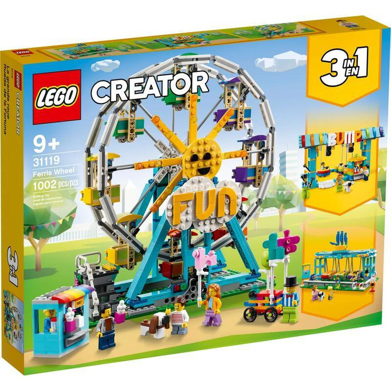 【MRW】LEGO 樂高 積木 玩具 CREATOR 3合1 創意系列 摩天輪 31119
