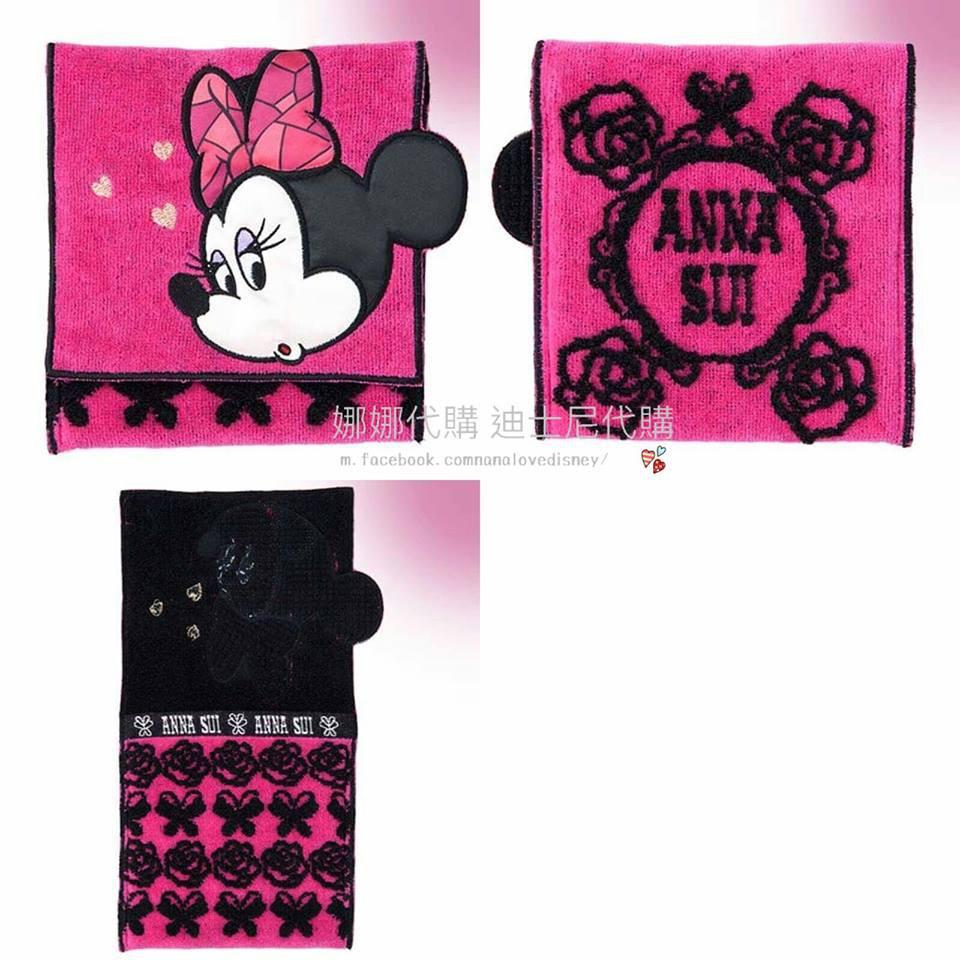 (現貨)東京迪士尼 日本迪士尼 迪士尼 Anna sui  聯名款 米妮 黛西 毛巾 小方巾 方巾