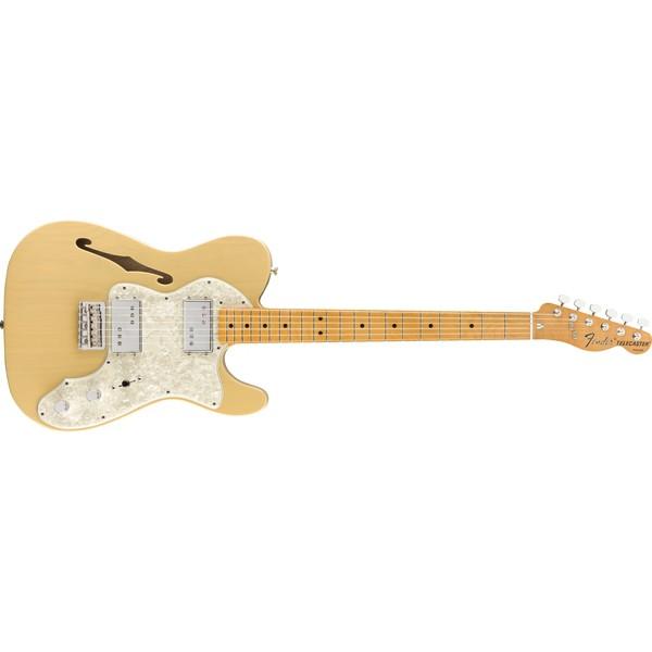 大鼻子樂器 Fender Mexico 電吉他 Vintera 70's Telecaster Thinline 奶油黃