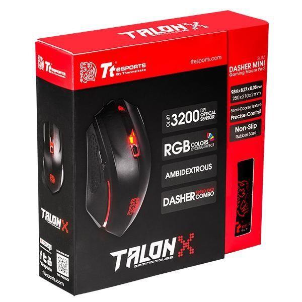 曜越塔龍 TALON X 電競滑鼠 + 競速者 鼠墊 組合包 --現貨