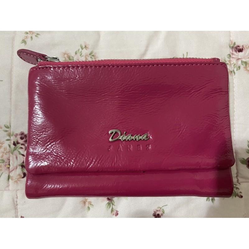 Diana JANES 桃紅色 皮夾 中夾
