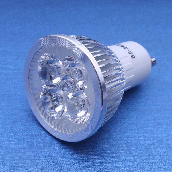 4LED 燈泡 GU10 4W 杯燈 投射燈 LED燈 軌道燈 崁燈 節能燈 省電燈泡 110V 白光(78-1078)