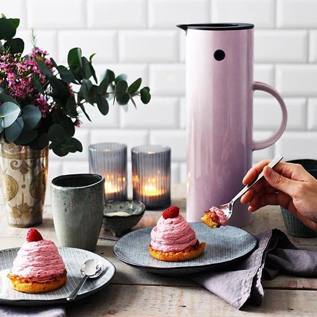 丹麥進口stelton時尚啄木鳥保溫彩色水壺 大容量玻璃內膽保溫壺