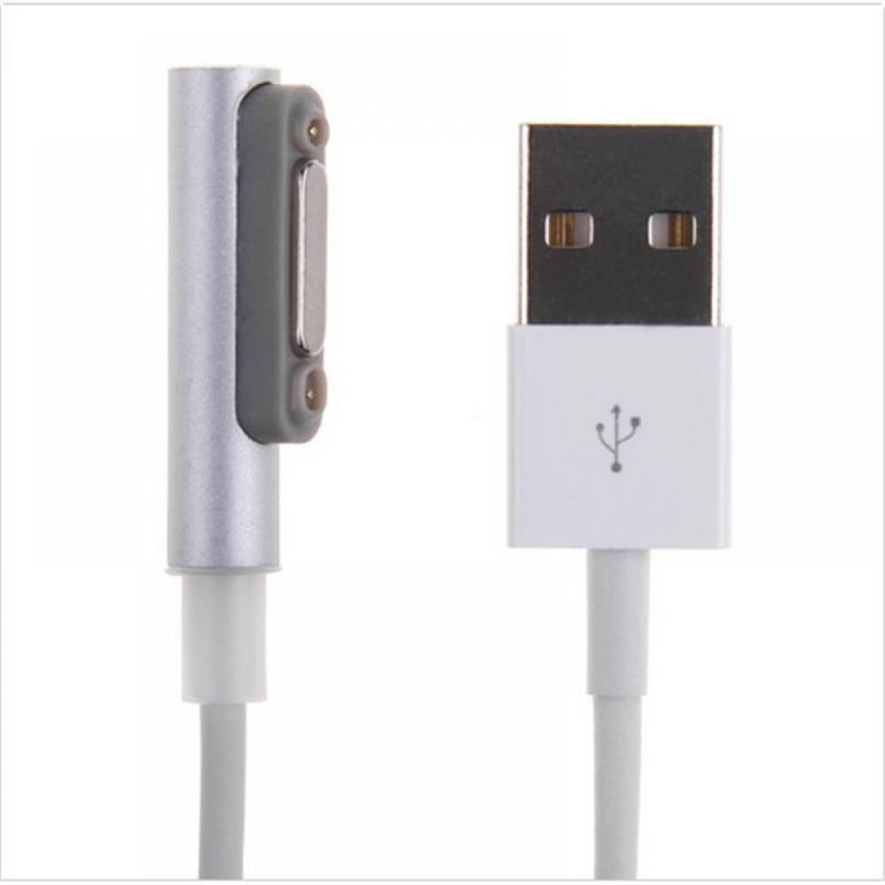 用於 Sony Xperia Z1 Z2 Z3 的金屬 Usb 電纜 Led 充電器鋁磁性