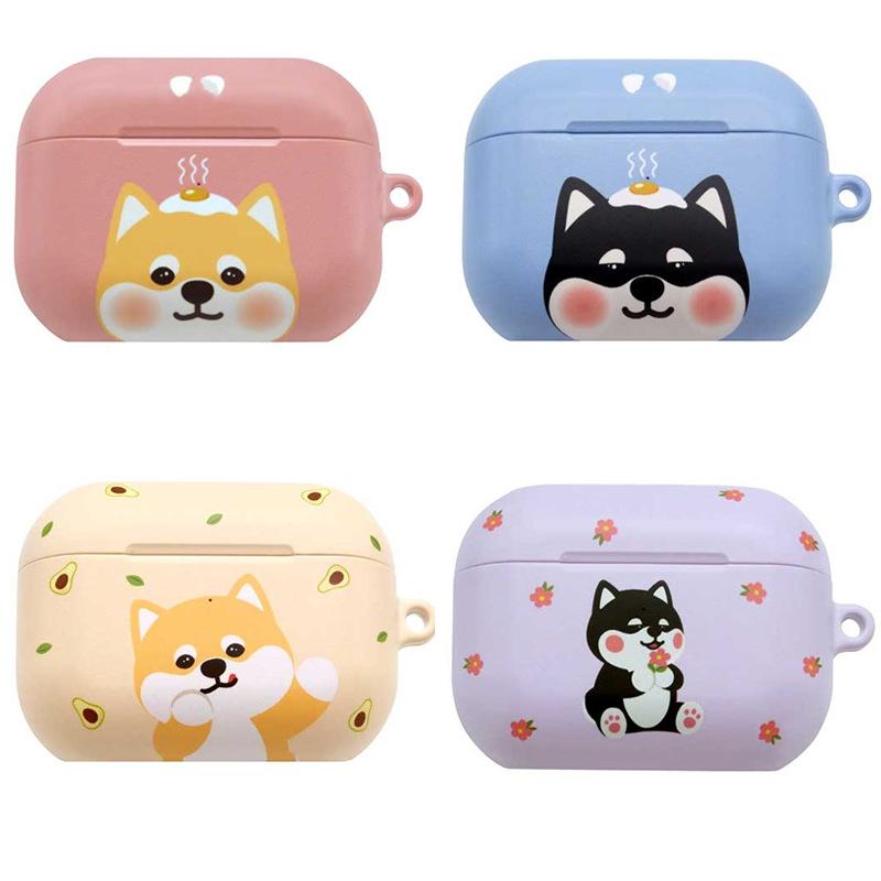 韓國柴犬適用蘋果AirPods Pro3代無線充電耳機保護套卡通收納盒女