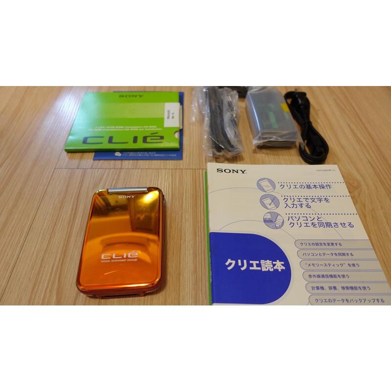 懷舊電子設備 SONY Clie PEG-SJ33 PDA Palm OS 掌上電腦 (橘) 日本製