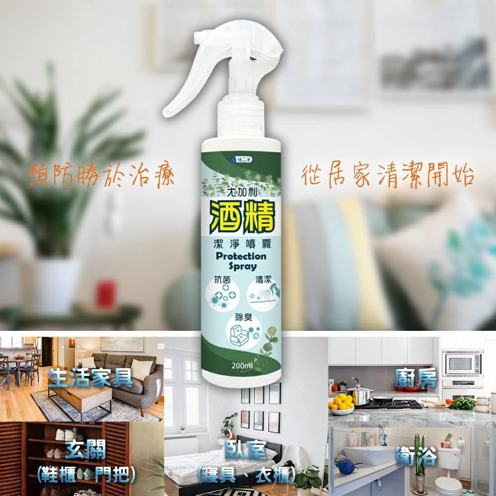 乾洗手200ml 75%尤加利酒精隨身噴霧  隨身攜帶超方便 養成隨手清潔習慣 現貨限量