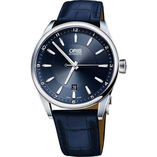 ORIS 豪利時 Artix Blue 日期機械手錶-藍/42mm (0173376424035-0752185FC)