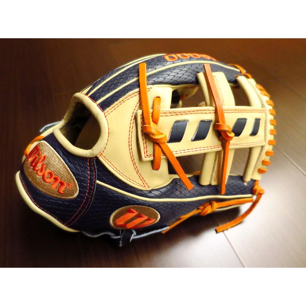{圓圓小舖}全新美規Wilson A2000系列威爾森棒壘球雙夾條內野十字手套JA27 Jose Altuve阿土伯蛇皮