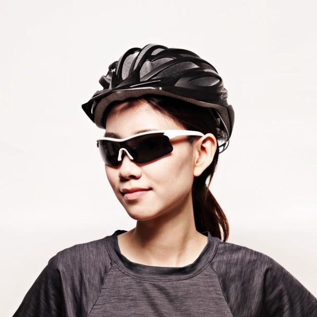 【GUGA】簡約白框運動型偏光太陽眼鏡墨鏡(P1081-C10-白框灰片)