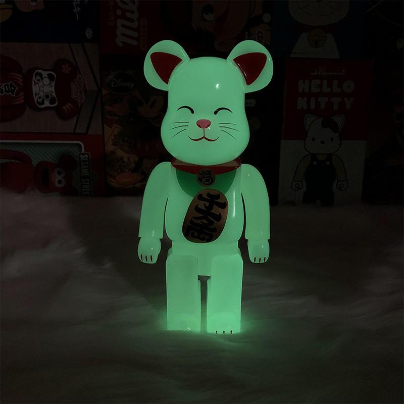 【台灣現貨】bearbrick暴力熊積木熊招財貓潮流周邊公仔玩偶手辦模型擺件400%