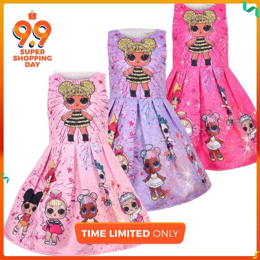 女童衣服公主裙 Lol Surprise Doll Dress Girl Kids Dress